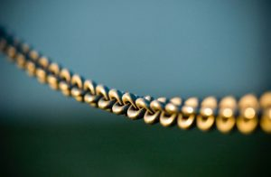 Metal chain close up