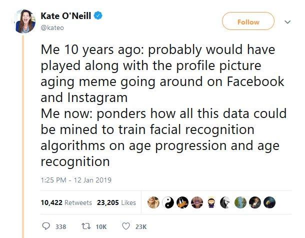 Kate O'Neil's Tweet social media