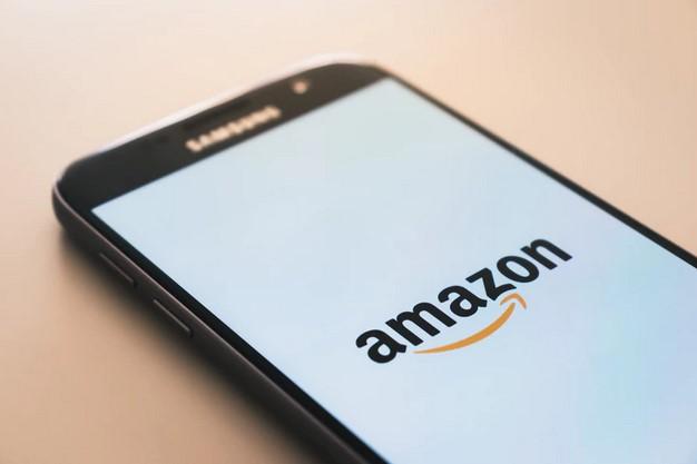 Amazon log on smartphone screen