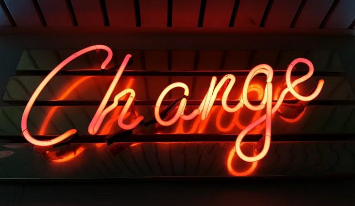 Change neon signboard