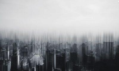 Cloud city in dark
