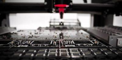 Grey machine in manufacturing process