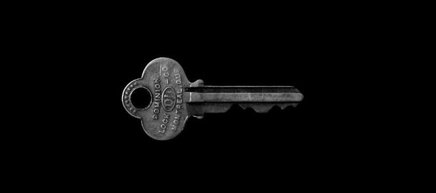 Key in black background