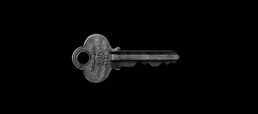 Key in black background