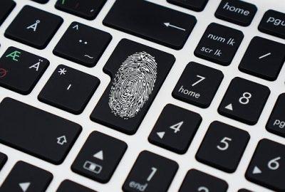 Finger print on black keyboard
