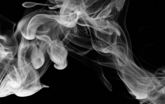 Smoke with black background